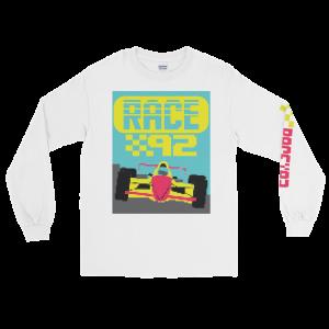 Race 92 Video Game Men's Long Sleeve Shirt