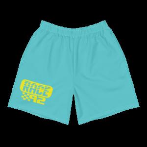 Men's Vintage Race 92 Neon Light Blue Shorts